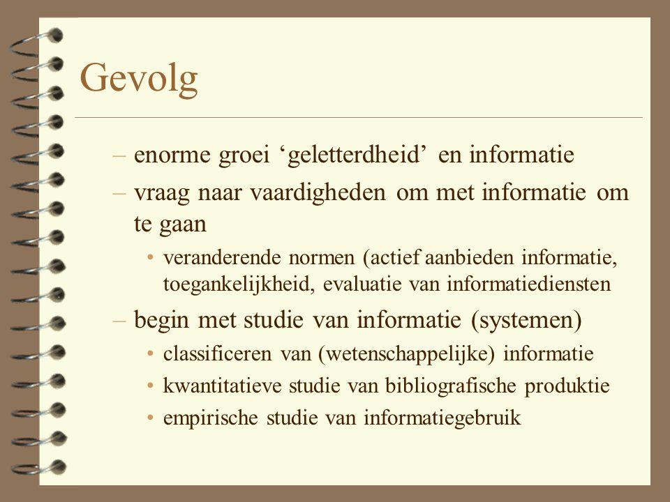 Het informatiesysteem 4 plaatje in Vickery & Vickery, pagina 10