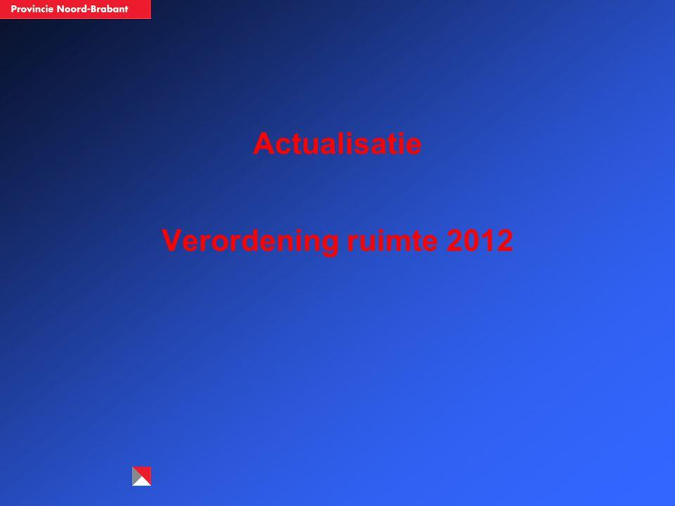 Actualisatie Verordening ruimte 2012