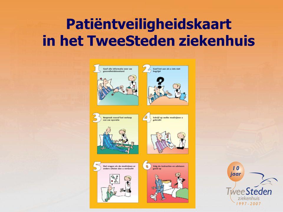 De verschillende stappen: Overleg met onze OM'ers (organisatorische managers) van de zorgeenheden over: -Wat zij van de patiëntveiligheidskaart vinden.