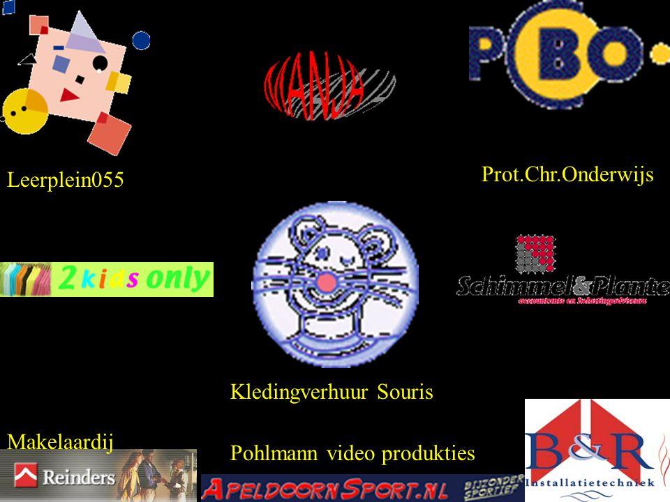 Leerplein055 Prot.Chr.Onderwijs Kledingverhuur Souris Makelaardij Pohlmann video produkties