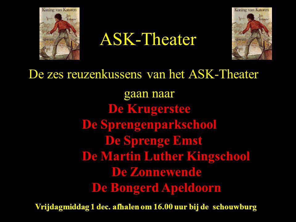 ASK-Theater De zes reuzenkussens van het ASK-Theater gaan naar De Krugerstee De Sprengenparkschool De Sprenge Emst De Martin Luther Kingschool De Zonn