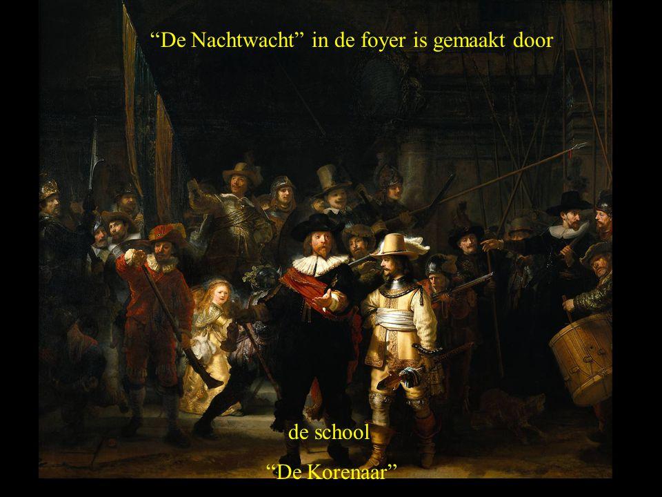"""""""De Nachtwacht"""" in de foyer is gemaakt door de school """"De Korenaar"""""""