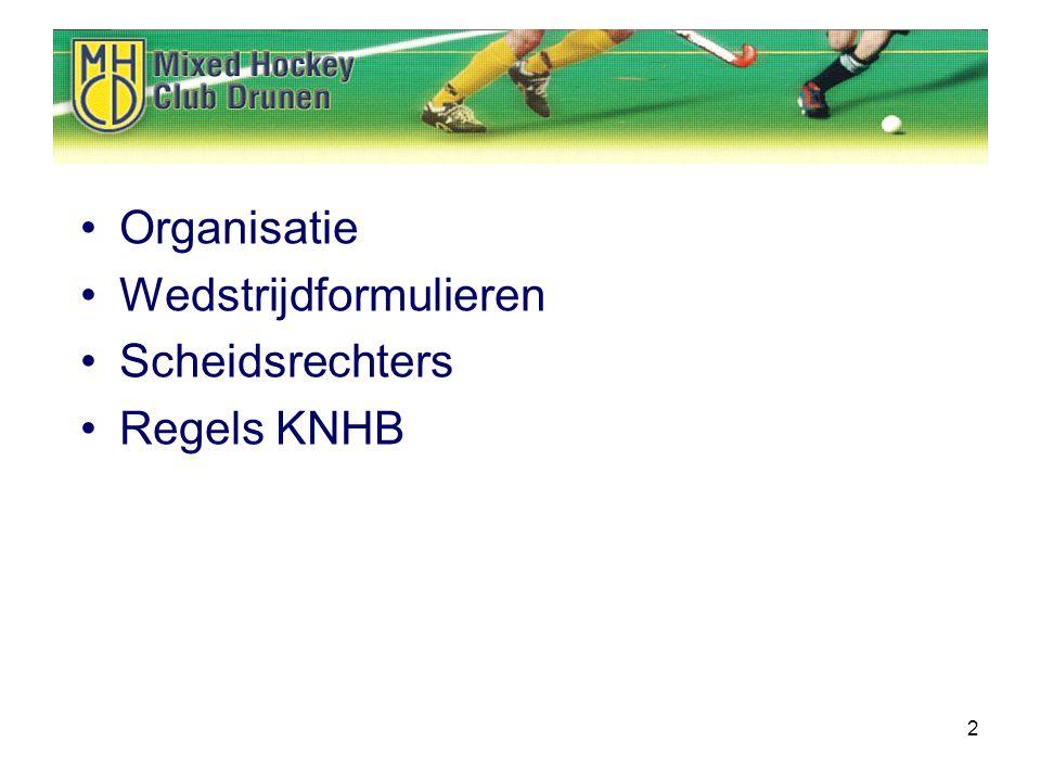 2 Organisatie Wedstrijdformulieren Scheidsrechters Regels KNHB
