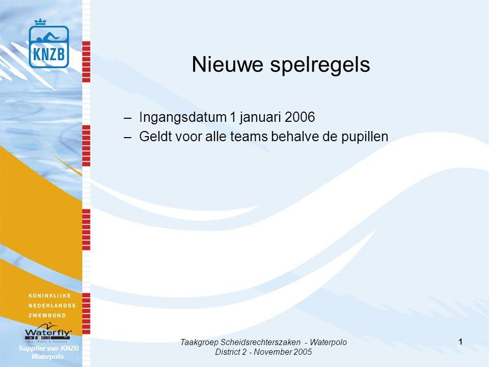 Supplier van KNZB Waterpolo 2 De wijzigingen spelregels waterpolo 2005-2009 District 2