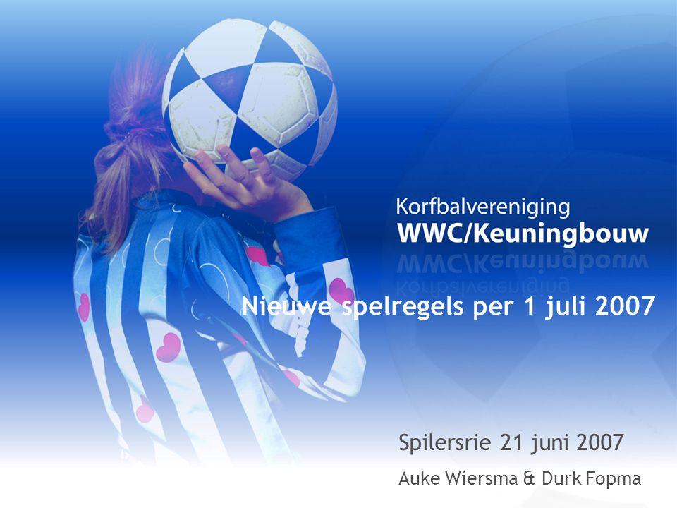 Nieuwe spelregels per 1 juli 2007 Spilersrie 21 juni 2007 Auke Wiersma & Durk Fopma