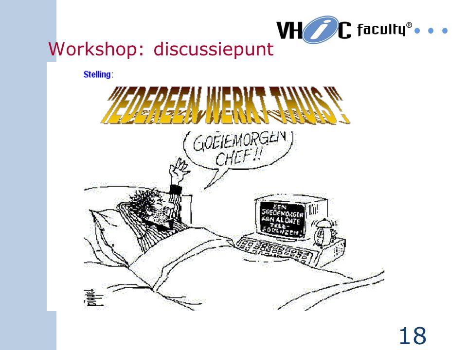 17 Workshop: nieuwe situatie