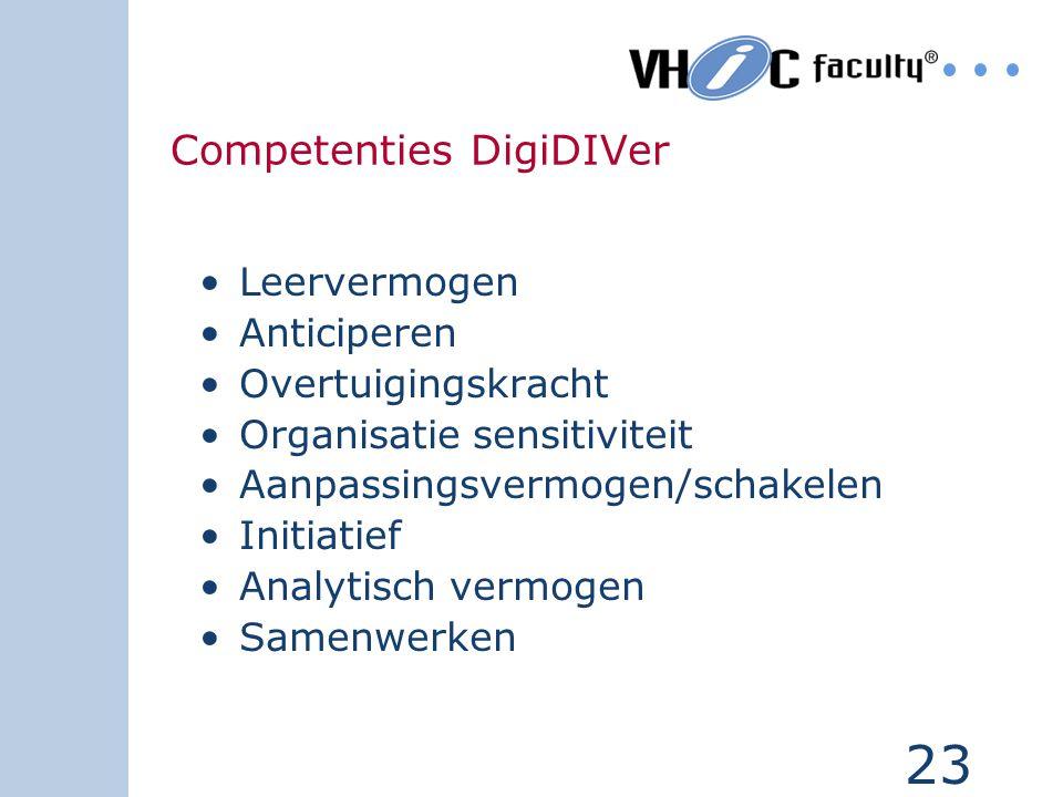 22 DigiDIVer (controle op) koppelen van documenten aan werkprocessen Pro-actief zoeken en presenteren van informatie Ondersteunen van gebruikers bij t
