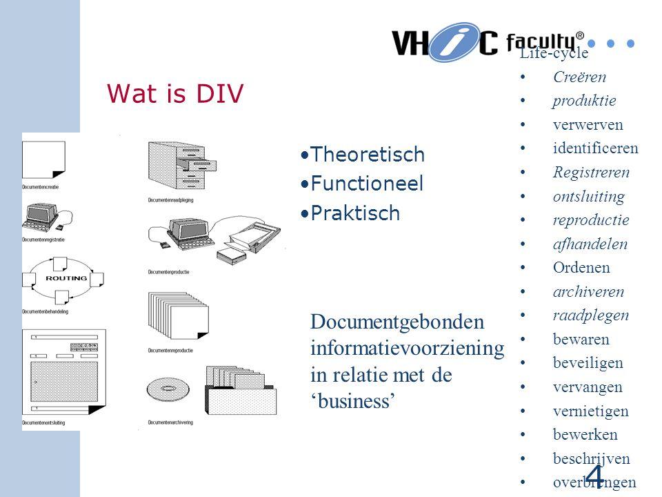 14 Het ontwikkelen van een functiehuis voor die medewerkers die te maken hebben met de (Documentaire) informatievoorziening in de nieuwe digitale infrastructuur van VROM Doelstelling deelproject Verkenning Functiebeschrijvingen VIDI