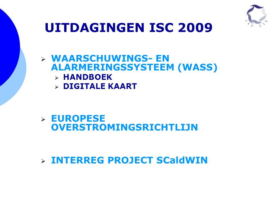  WAARSCHUWINGS- EN ALARMERINGSSYSTEEM (WASS)  HANDBOEK  DIGITALE KAART  EUROPESE OVERSTROMINGSRICHTLIJN  INTERREG PROJECT SCaldWIN UITDAGINGEN IS