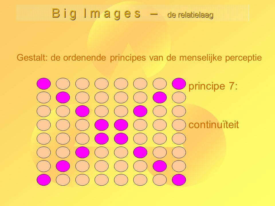 Gestalt: de ordenende principes van de menselijke perceptie principe 7: continuïteit