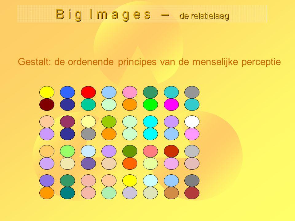 B i g I m a g e s – de relatielaag Kees van Overveld compositie in beeldenorigineel zelfde (equivalente) verdelingsregel 'van linksonder naar rechtsboven' op sampling laag (globale optic flow) verschillende verdelingsregels op sampling laag (kleurverzadiging) -25-
