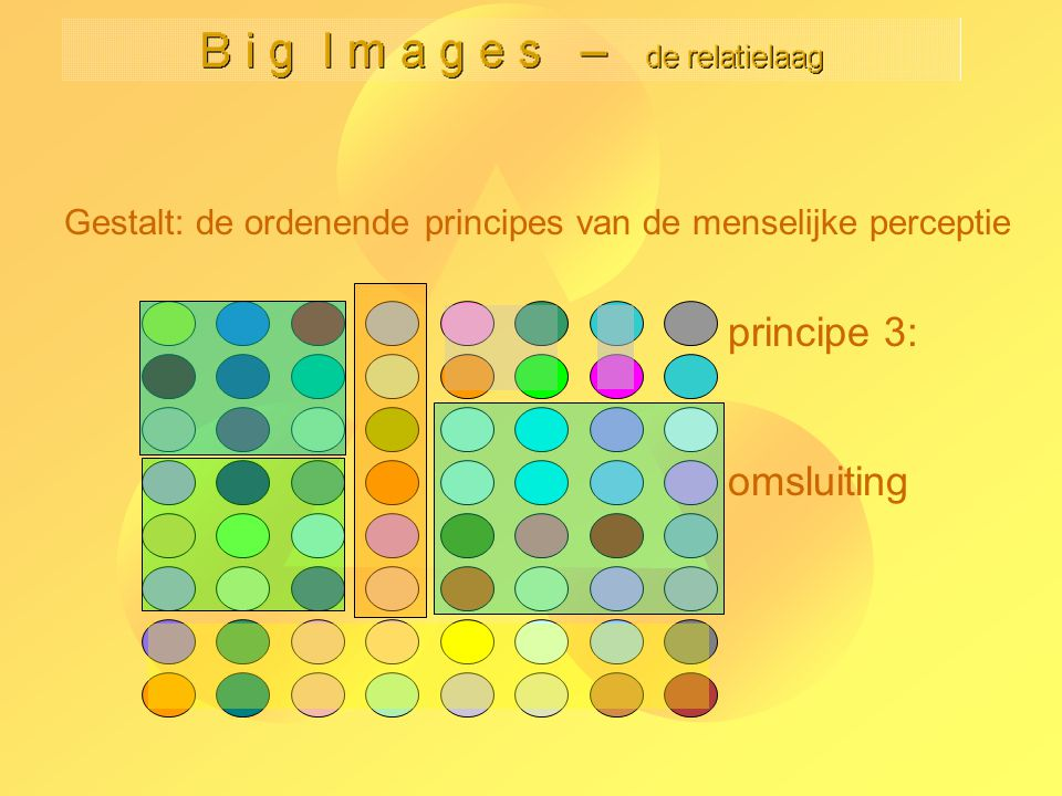 B i g I m a g e s – de relatielaag Kees van Overveld Niet-locale effecten 1: kleur -29- Lineair kleurenmodel cf.