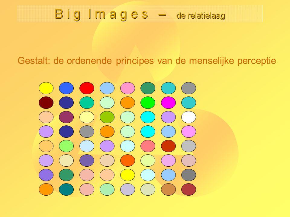 Gestalt: de ordenende principes van de menselijke perceptie Toepassingen van Gestalt: Indeling van bedeningspanelen Belettering en labeling van afbeeldingen (bijvoorbeeld kaarten) Font-design.