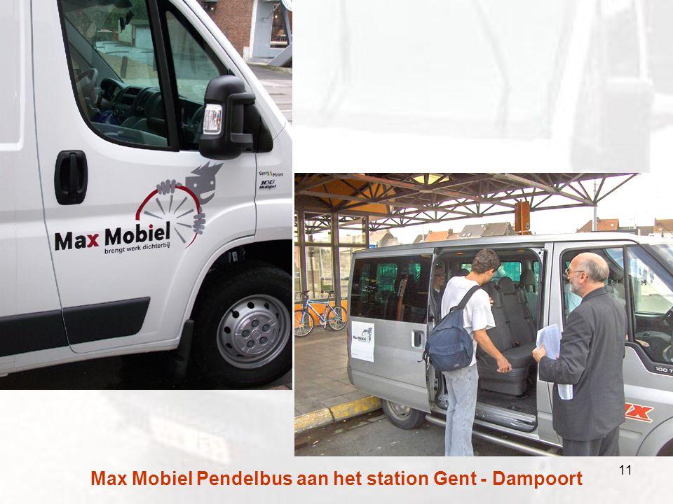 Max Mobiel Pendelbus aan het station Gent - Dampoort 11