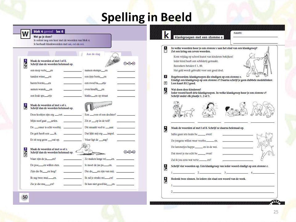 25 Spelling in Beeld