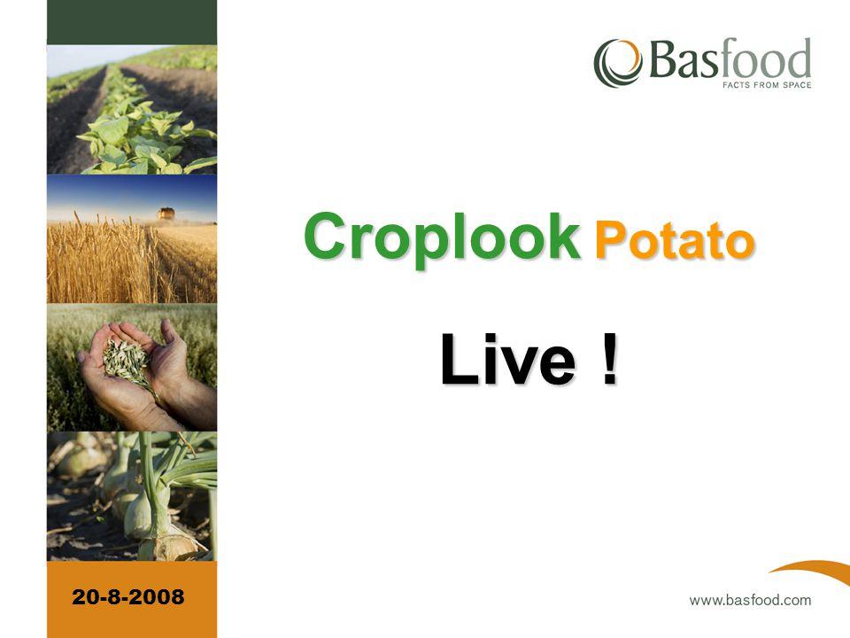 Elke week voor € 500 per tegel voor het hele seizoen Croplook Potato