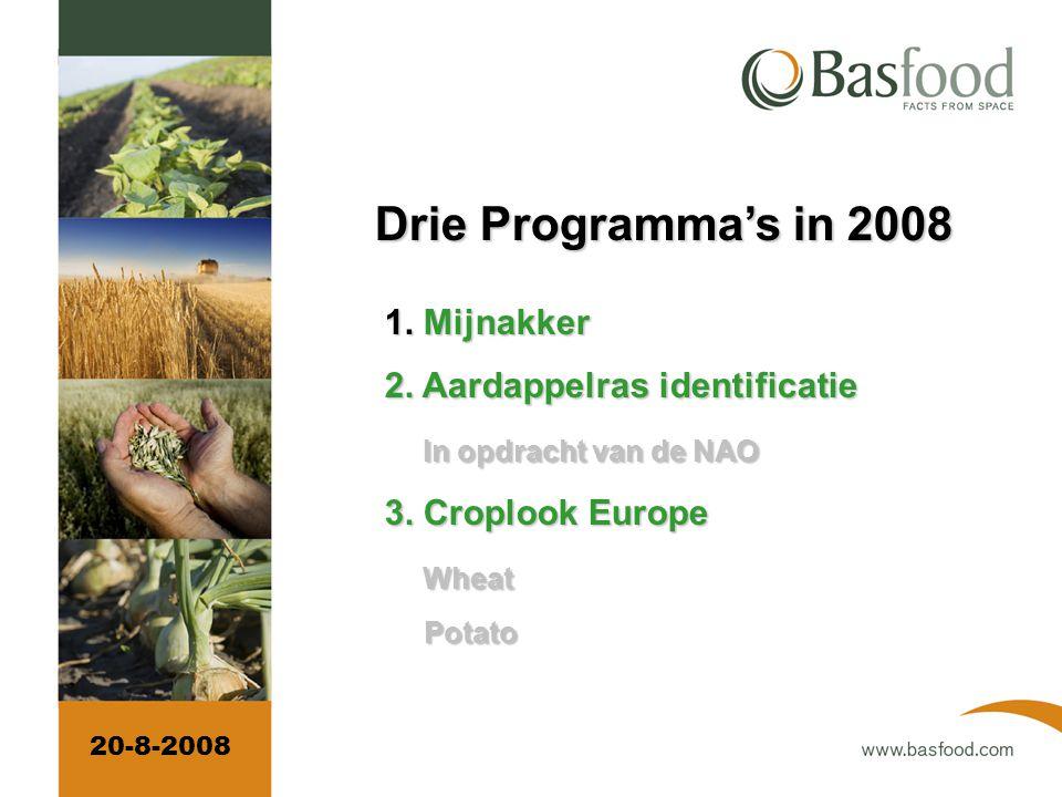 Drie Programma's in 2008 1.Mijnakker 1. Mijnakker 2.