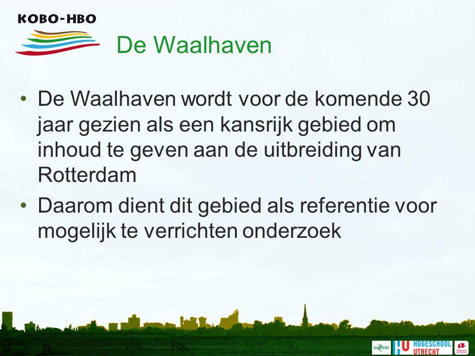 De Waalhaven De Waalhaven wordt voor de komende 30 jaar gezien als een kansrijk gebied om inhoud te geven aan de uitbreiding van Rotterdam Daarom dien