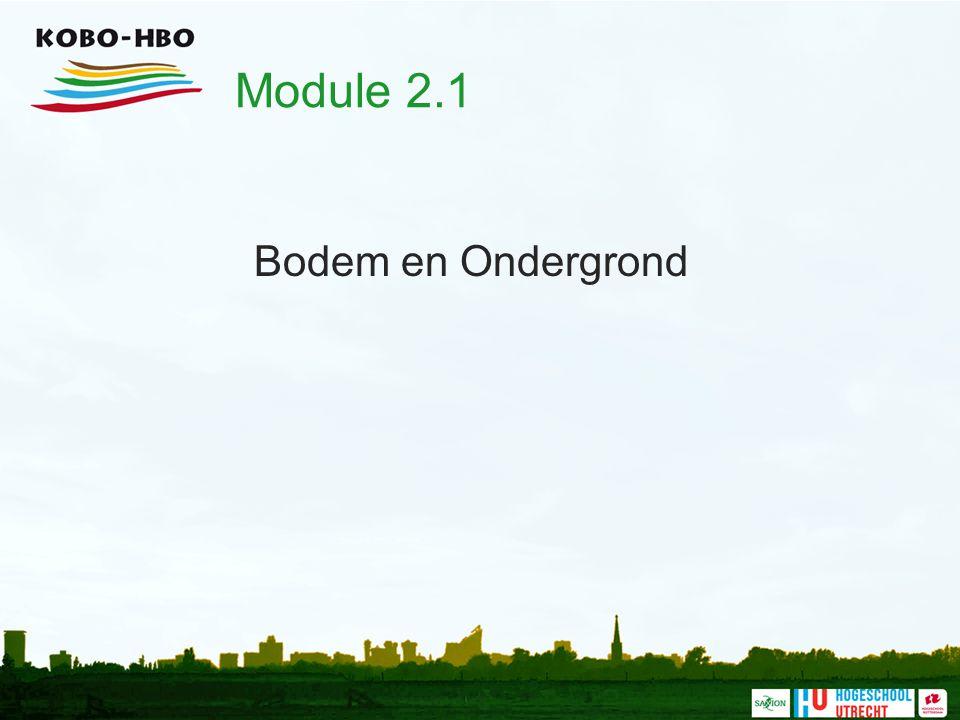 Module 2.1 Bodem en Ondergrond