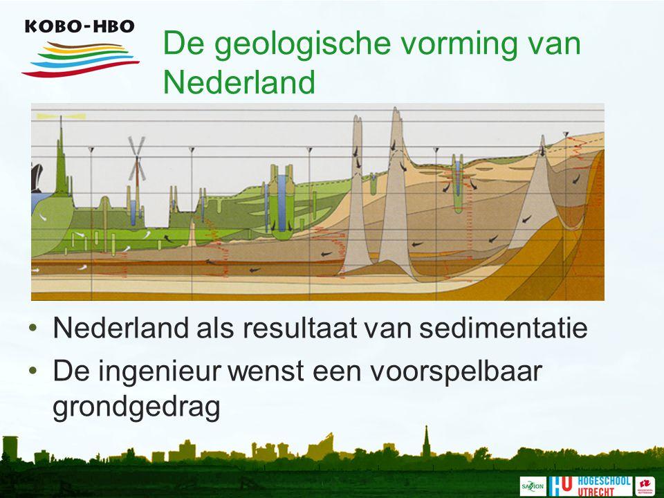 De geologische vorming van Nederland Nederland als resultaat van sedimentatie De ingenieur wenst een voorspelbaar grondgedrag