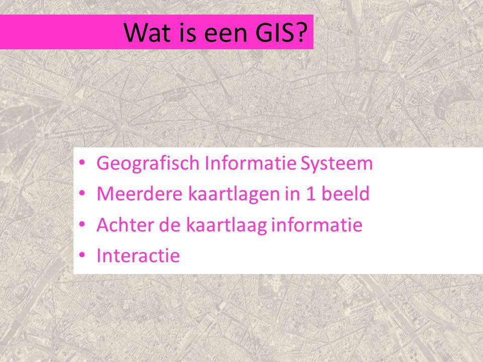 Wat is een GIS.