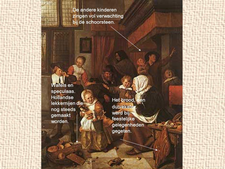 Wafels en speculaas. Hollandse lekkernijen die nog steeds gemaakt worden. Het brood, een duivekater, werd bij feestelijke gelegenheden gegeten. De and