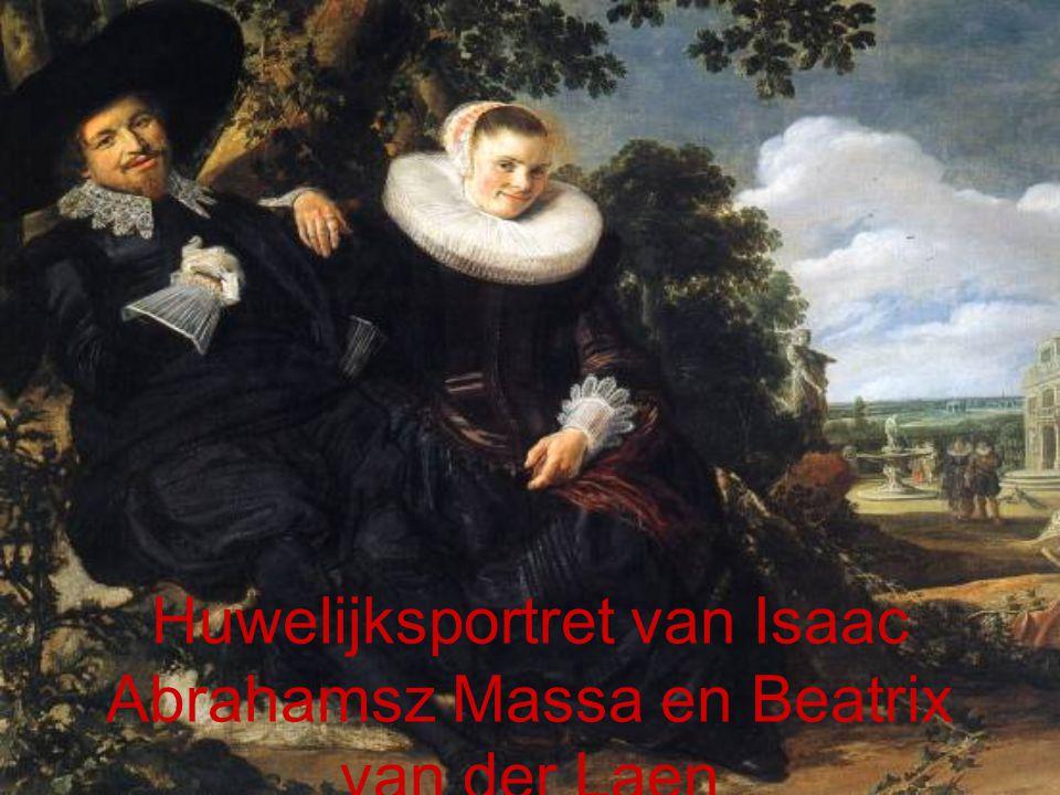 Huwelijksportret van Isaac Abrahamsz Massa en Beatrix van der Laen