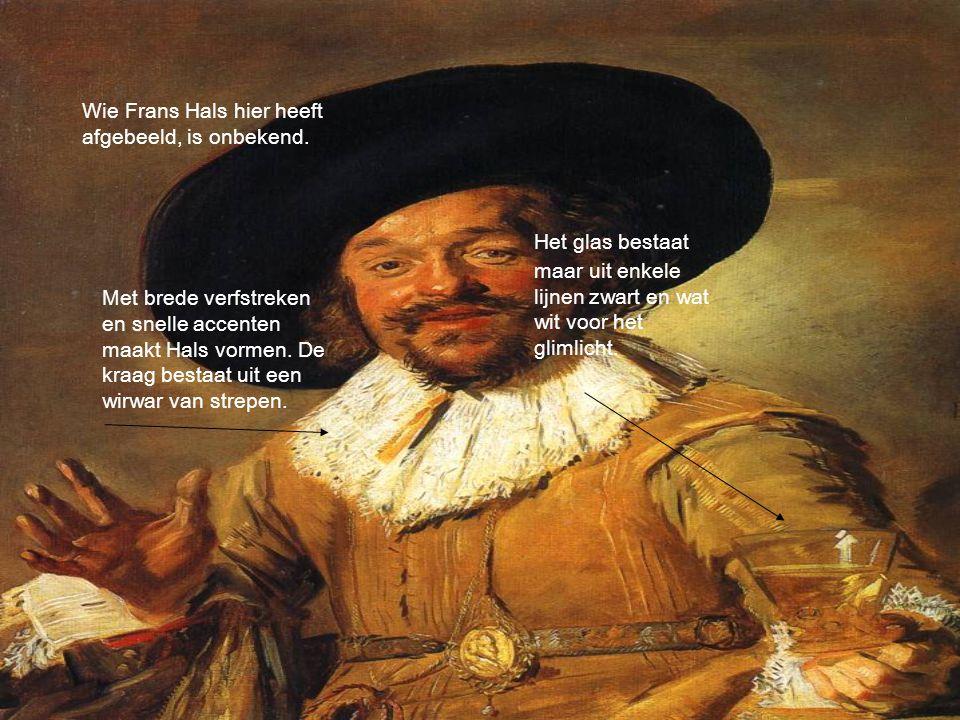 Wie Frans Hals hier heeft afgebeeld, is onbekend. Met brede verfstreken en snelle accenten maakt Hals vormen. De kraag bestaat uit een wirwar van stre