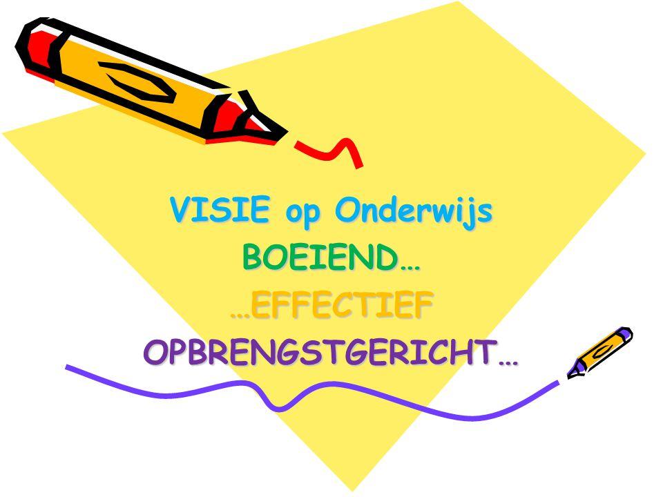 VISIE op Onderwijs BOEIEND……EFFECTIEFOPBRENGSTGERICHT…