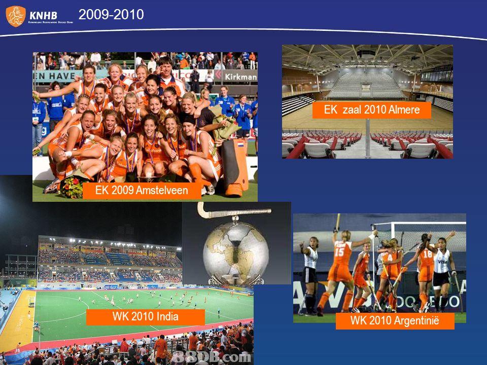 2009-2010 EK 2009 Amstelveen EK zaal 2010 Almere WK 2010 India WK 2010 Argentinië