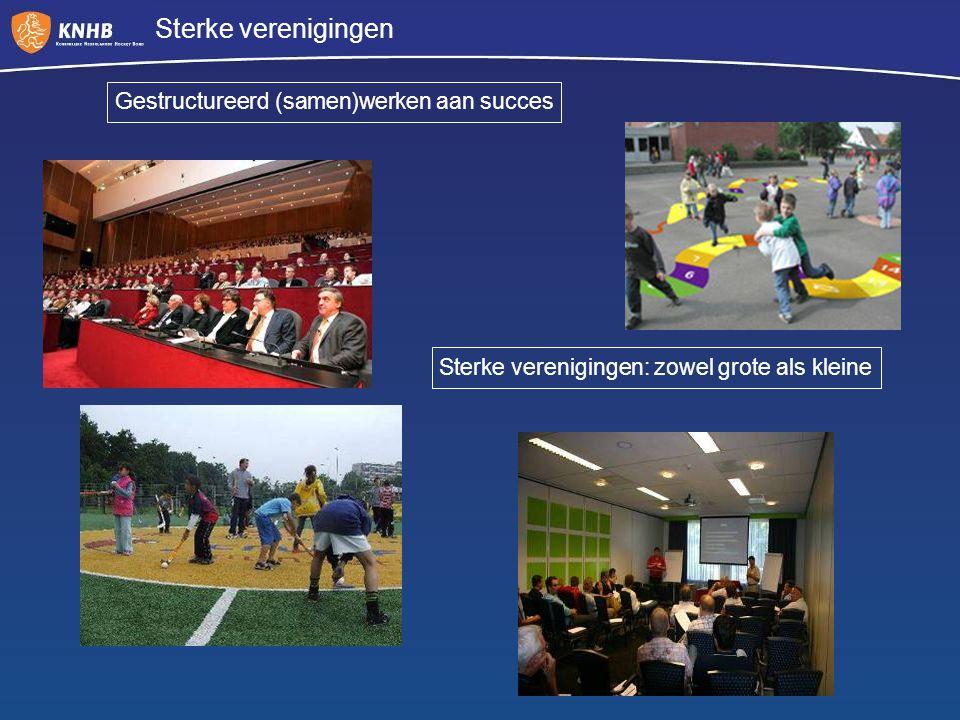 Sterke verenigingen Gestructureerd (samen)werken aan succes Sterke verenigingen: zowel grote als kleine