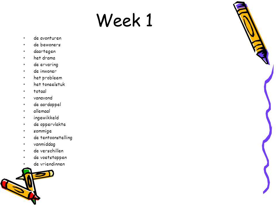 Week 6 Hoor je een /ie/ voor een klankgroep met een duffe /u/.