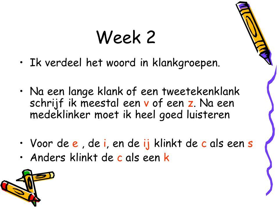 Week 30 Werkwoorden voltooid deelwoord d/t Bij een voltooid deelwoord hoort een persoonsvorm van: hebben, zijn of worden Hulpregel: 't fokschaap: Bij twijfel tussen d of t aan het eind van een volt.
