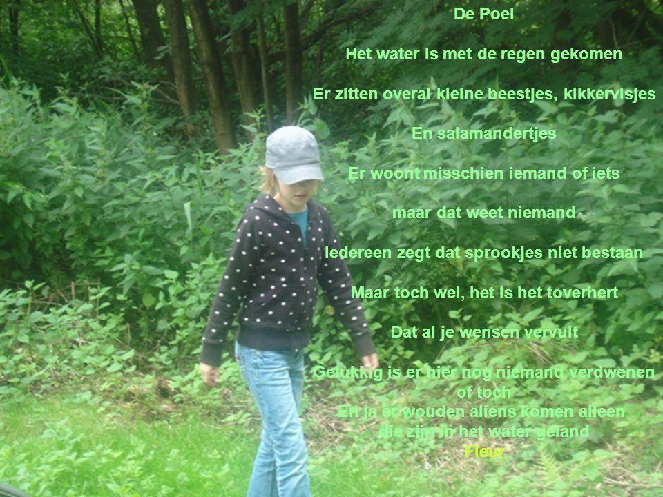 ER was eens een meisje van veertien Dat meisje hield van de natuur En weet je waar ze woonde.