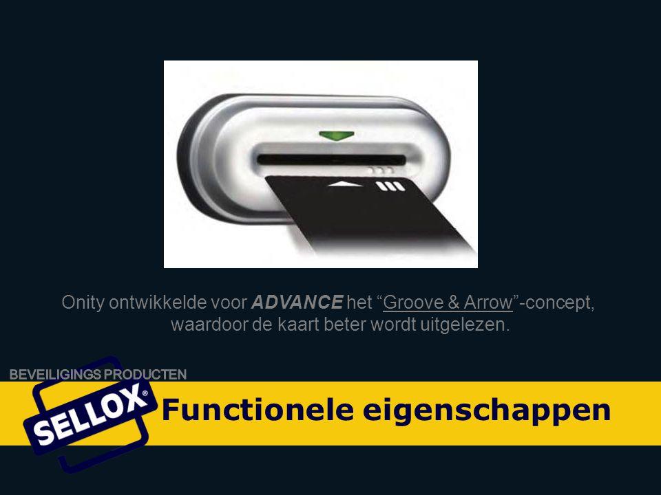 Onity Advance by SELLOX Onity ontwikkelde voor ADVANCE het Groove & Arrow -concept, waardoor de kaart beter wordt uitgelezen.