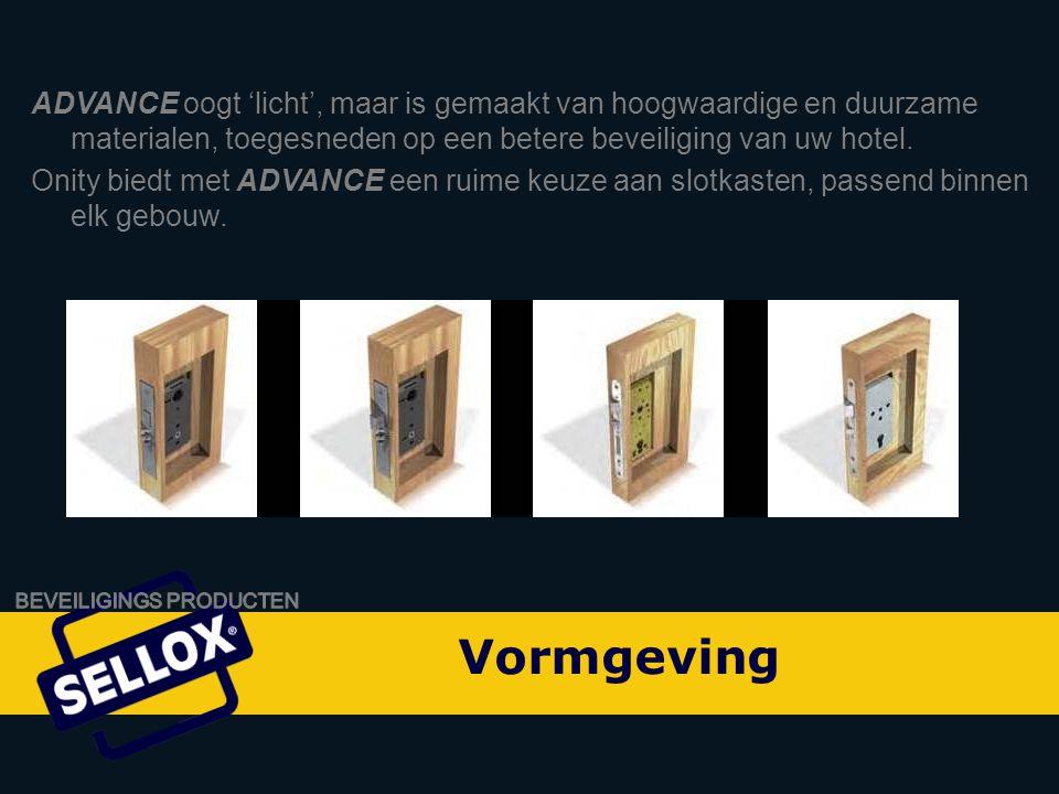 Onity Advance by SELLOX ADVANCE oogt 'licht', maar is gemaakt van hoogwaardige en duurzame materialen, toegesneden op een betere beveiliging van uw hotel.