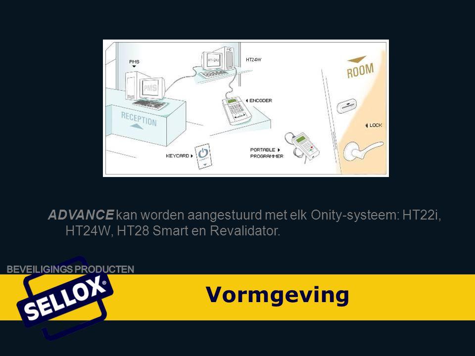 Onity Advance by SELLOX ADVANCE kan worden aangestuurd met elk Onity-systeem: HT22i, HT24W, HT28 Smart en Revalidator.