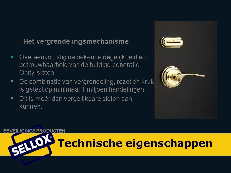 Onity Advance by SELLOX  ADVANCE voldoet aan de laatste brand- en veiligheidsvoorschriften en is RF gecertificeerd.