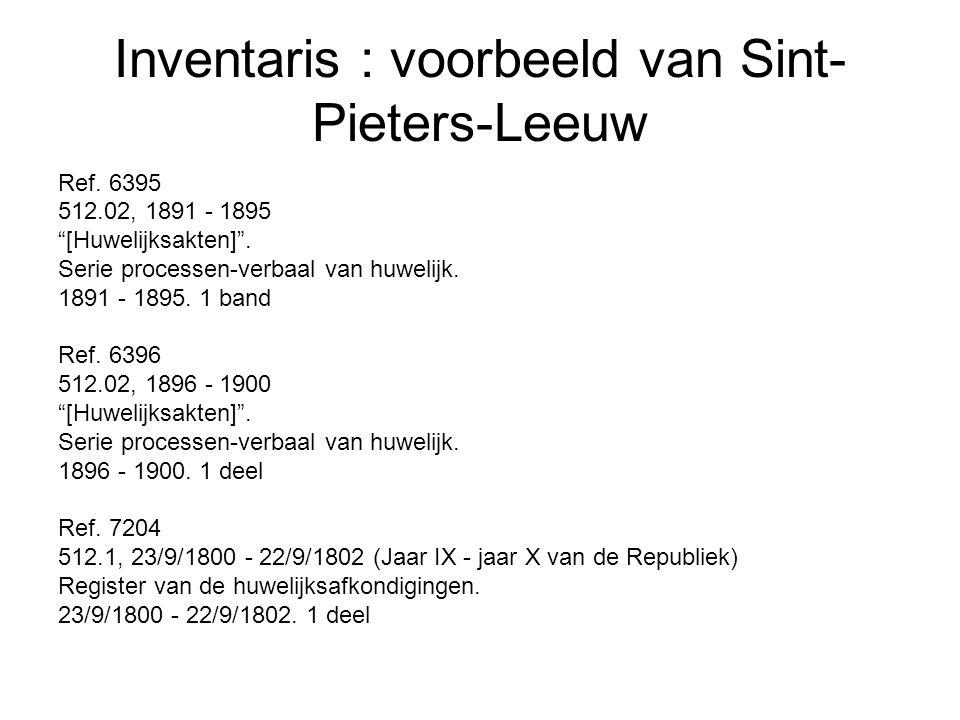 """Inventaris : voorbeeld van Sint- Pieters-Leeuw Ref. 6395 512.02, 1891 - 1895 """"[Huwelijksakten]"""". Serie processen-verbaal van huwelijk. 1891 - 1895. 1"""