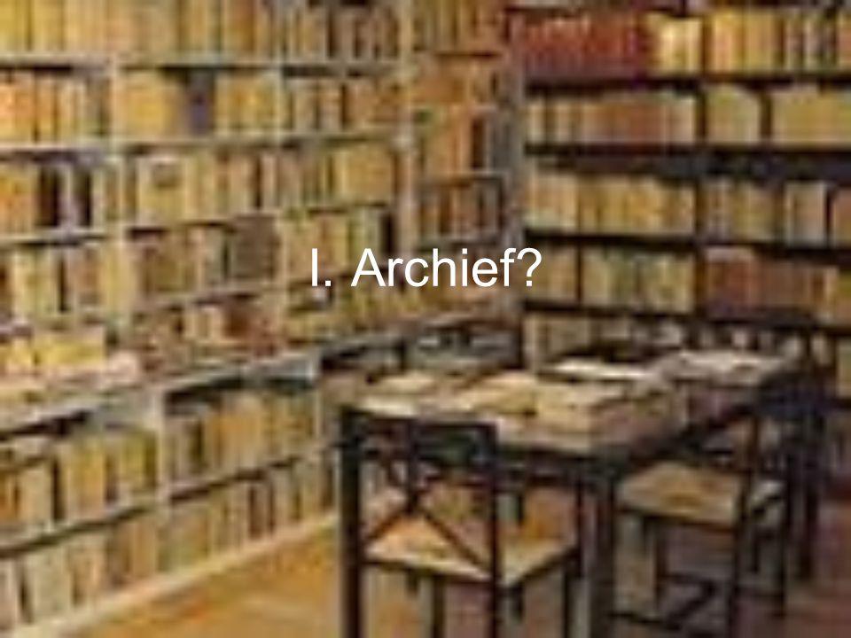 Wat betekent archivering.