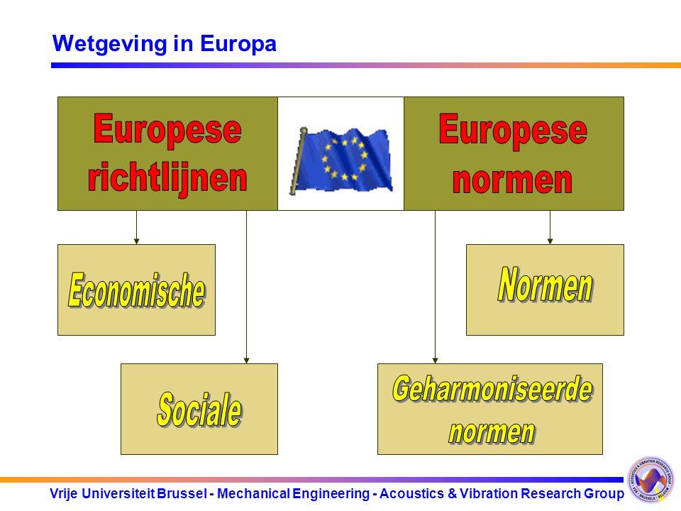 Vrije Universiteit Brussel - Mechanical Engineering - Acoustics & Vibration Research Group Welke industrieën vallen onder CEE/2002/49 .