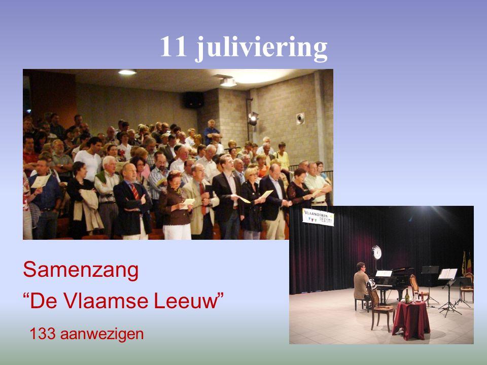 11 juliviering Samenzang De Vlaamse Leeuw 133 aanwezigen