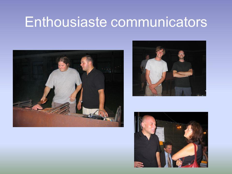Enthousiaste communicators