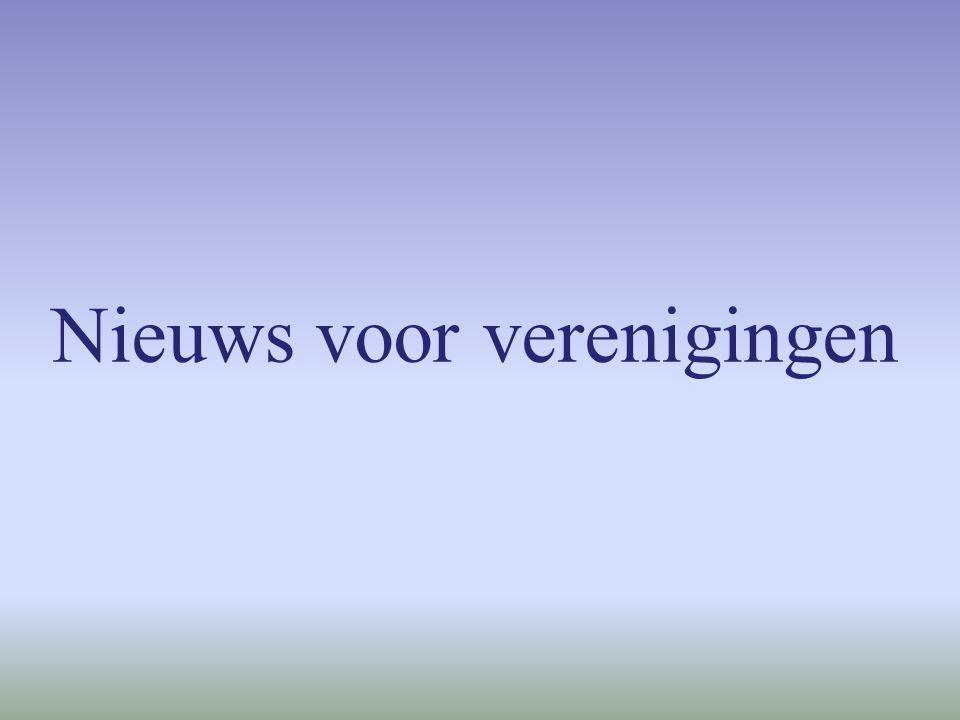 Nieuws voor verenigingen