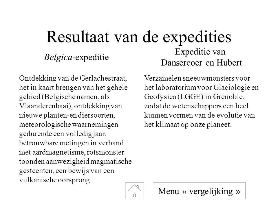 Resultaat van de expedities Ontdekking van de Gerlachestraat, het in kaart brengen van het gehele gebied (Belgische namen, als Vlaanderenbaai), ontdek