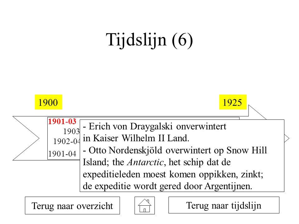 Tijdslijn (6) 19001925 1901-03 1901-04 1902-04 1903-05 1907-09 1908-10 1911 1912 1914-16 1922 Terug naar overzicht Terug naar tijdslijn - Erich von Draygalski onverwintert in Kaiser Wilhelm II Land.