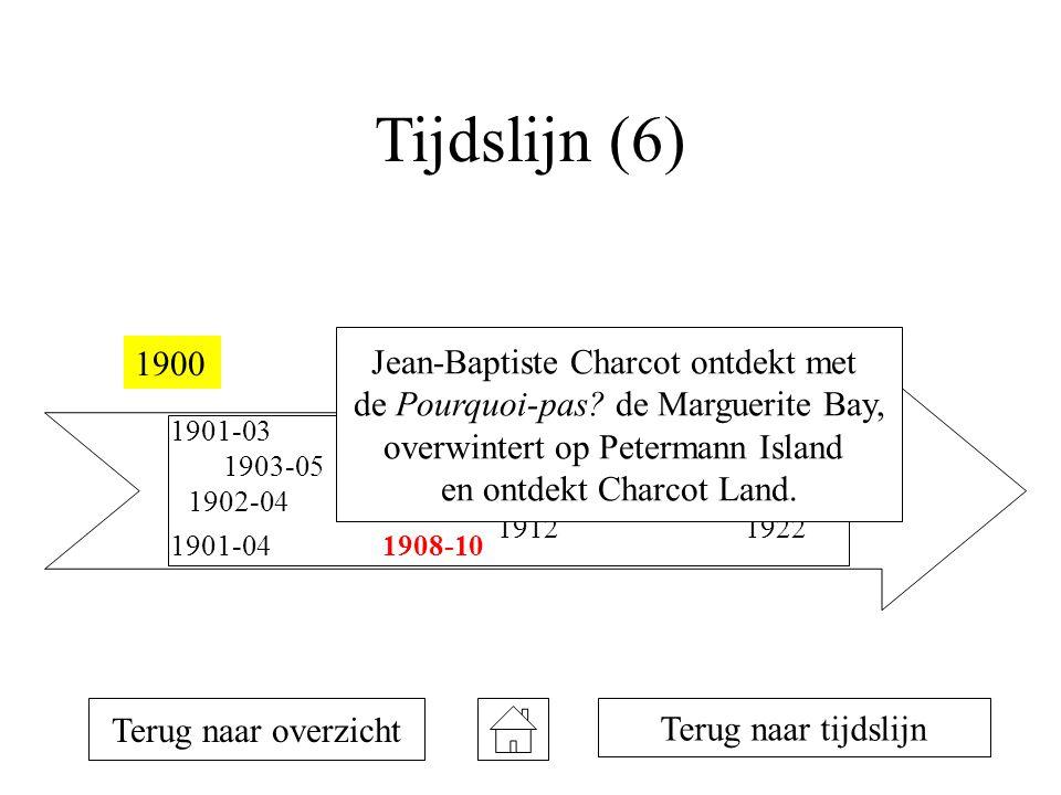 Tijdslijn (6) 19001925 1901-03 1901-04 1902-04 1903-05 1907-09 1908-10 1911 1912 1914-16 1922 Terug naar overzicht Terug naar tijdslijn Jean-Baptiste Charcot ontdekt met de Pourquoi-pas.
