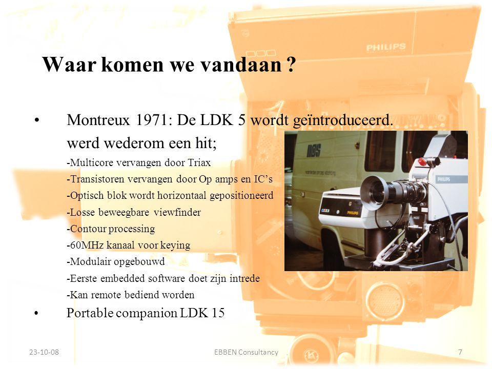 9-7-2014EBBEN Consultancy7 23-10-087EBBEN Consultancy Waar komen we vandaan ? Montreux 1971: De LDK 5 wordt geïntroduceerd. werd wederom een hit; -Mul