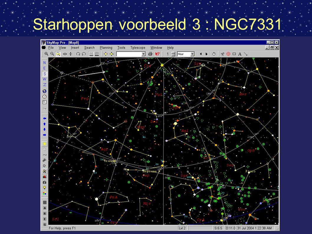 Starhoppen voorbeeld 3 : NGC7331