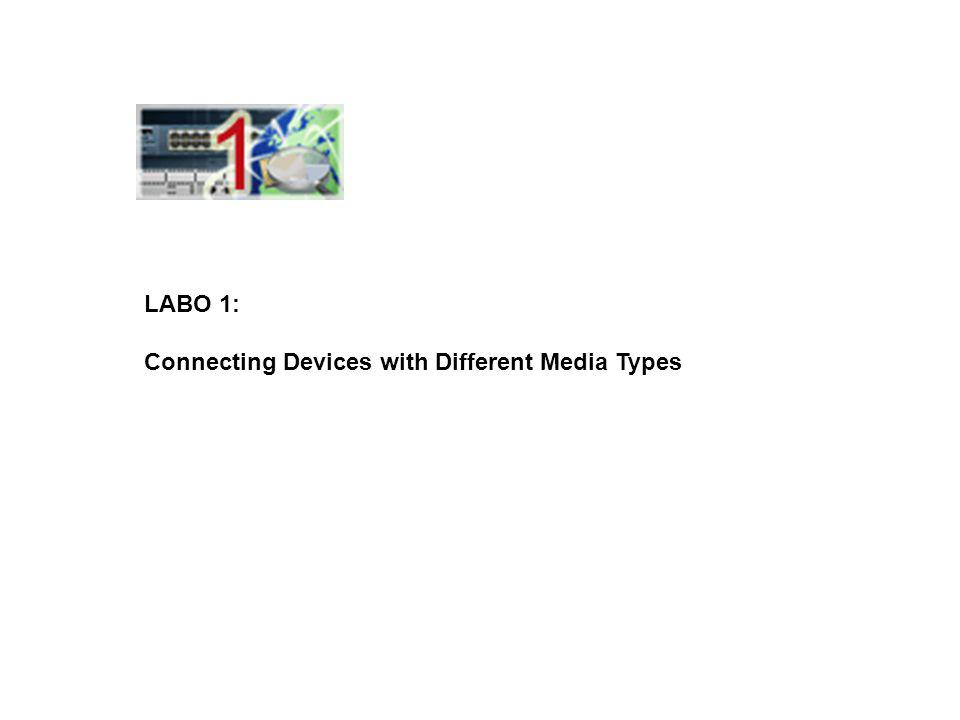 LABO 1: Connecting Devices with Different Media Types